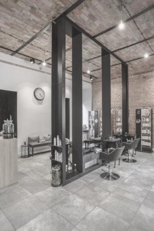 Salon fryzjerski - główna sala